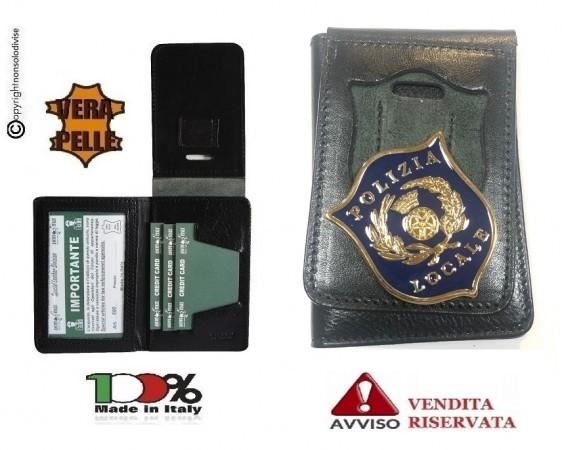 Portafoglio Portadocumenti con Placca Fissa Polizia Locale Placca Staccabile VENDITA RISERVATA Italia Art. 600V006PL