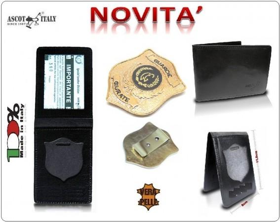 Portadocumenti + con Placca Operativa Guardie Giurate Ascot Italy Novità Art.360GG