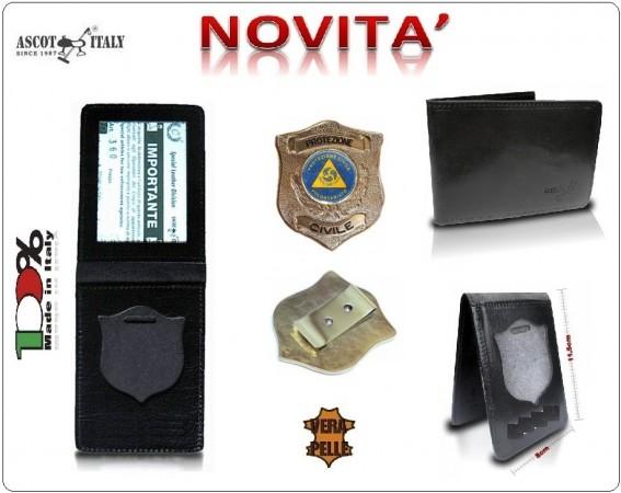 Portadocumenti + con Placca Operativa Protezione Civile Nazionale Ascot Italy Novità Art.360PC