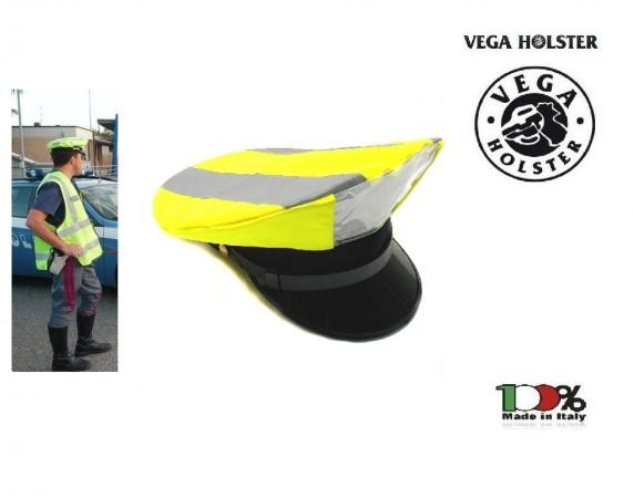 Copri Berretto Copriberretto Alta Visibilità Giallo Polizia Carabinieri Vigilanza Locale Municipale Vega Holster Italia Art. 4AV00