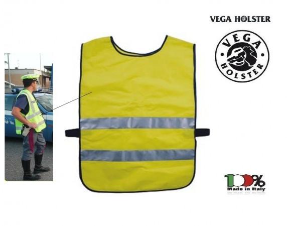Corpetto Fratino Pettorina Alta Visibilità Giallo Neutro Vega Holster Italia Art. 4AV04