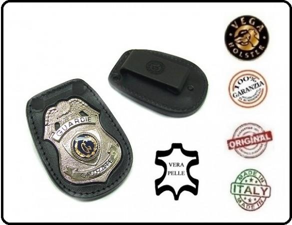 Distintivo Placca da Cintura con clip per Guardia Particolare Giurata Guardie Giurate Vega Holster Italia  Art.1WA27