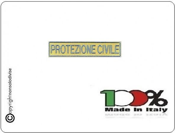 Patch Toppa Ricamo Protezione Civile Scritta 1 Riga Art.EU246