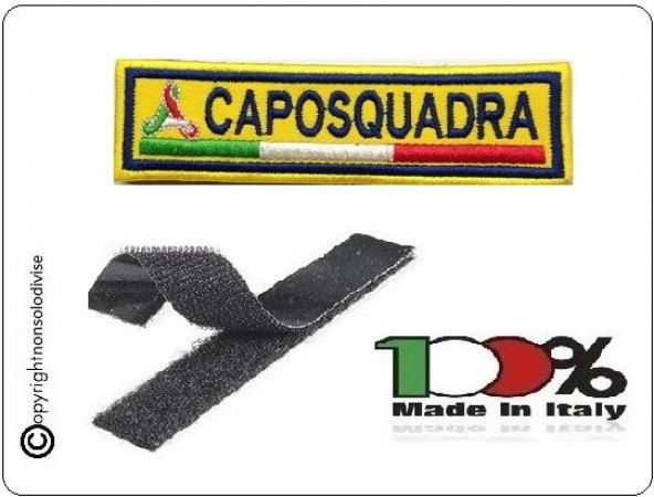 Patch Ricamo a Macchina Con Velcro Protezione Civile CAPOSQUADRA Art.NSD-PC3