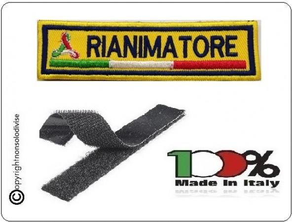 Patch Ricamo a Macchina Con Velcro Protezione Civile RIANIMATORE Art.NSD-PC6