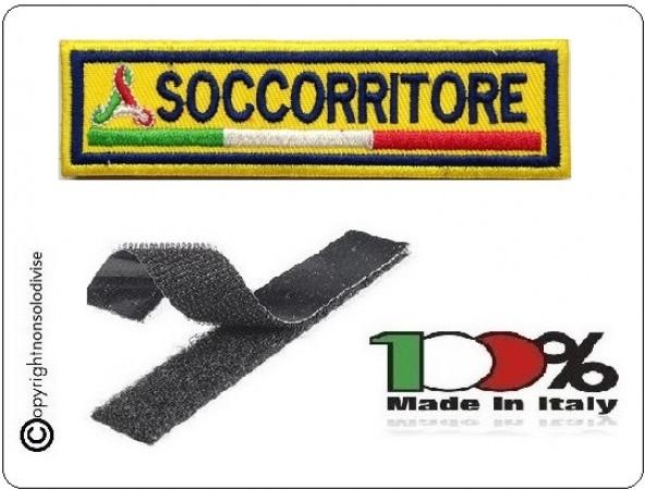 Patch Ricamo a Macchina Con Velcro Protezione Civile SOCCORRITORE Art.NSD-PC8
