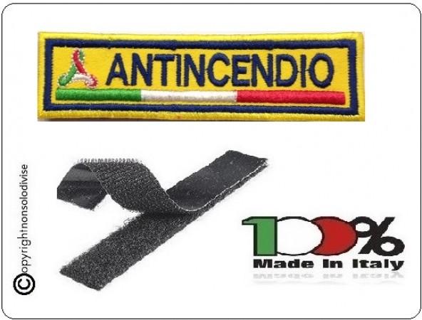 Patch Ricamo a Macchina Con Velcro Protezione Civile ANTINCENDIO Art.NSD-PC1