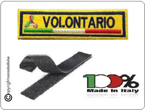 Patch Ricamo a Macchina Con Velcro Protezione Civile VOLONTARIO Art.NSD-PC10