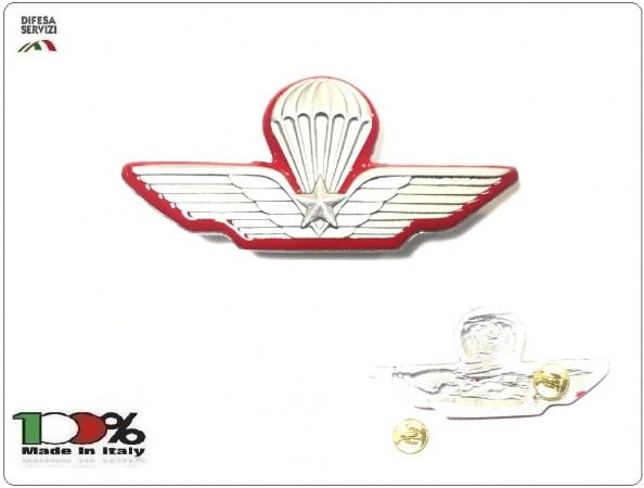 Spilla Brevetto Giacca Paracadutista Militare Bordo Rosso Direttore di Lancio e Carabinieri  Prodotto Ufficiale Italiano Art.P-DIR-L