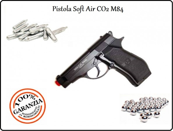 Pistola Soft Air Co2 Full Metal Professionale BB 6 mm Art.301
