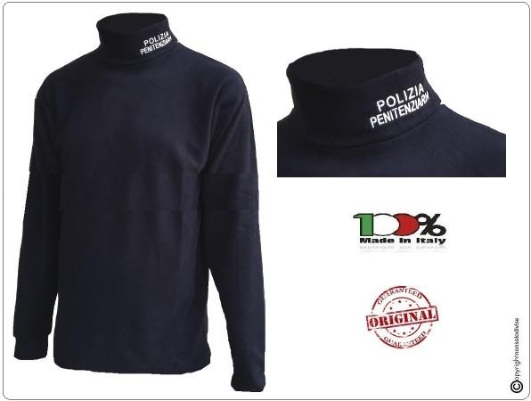 Lupetto Maglione Maglioncino Dolcevita in Micro Pile con Ricamo Polizia Penitenziaria Art.NSD-PP-L