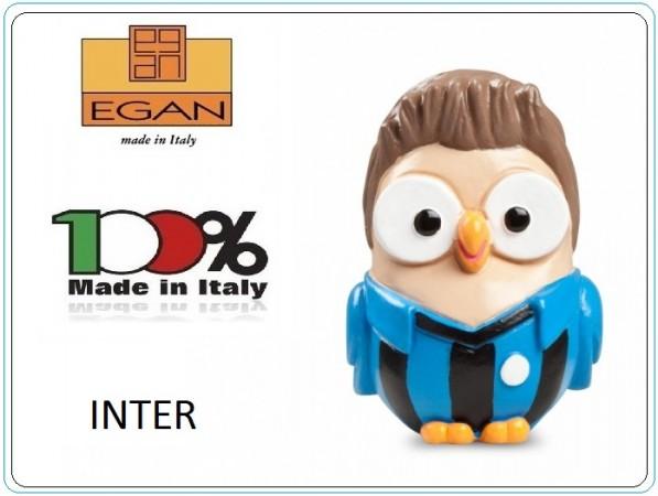 Gufo Gufetto Goofi Gofiplayer INTER Idea Regalo o Bomboniera Collezione Porta Fortuna EGAN Prodotto e Dipinto a Mano in Italia Art.ML18CT/1NAZ