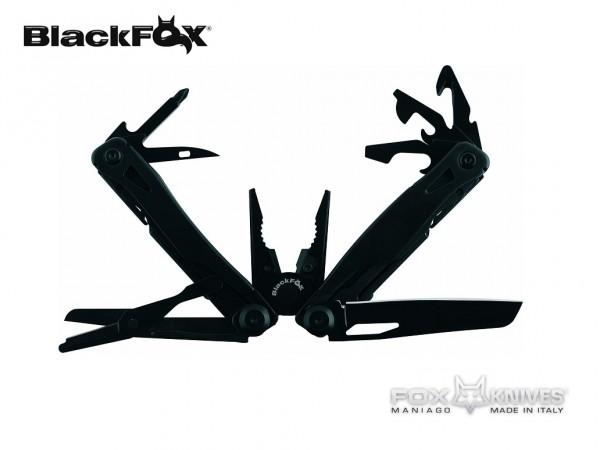 Pinza Coltello Multiuso con Blocco Lama e Fodero Black Fox Maniago Italia New BF 204 Art. BF-204