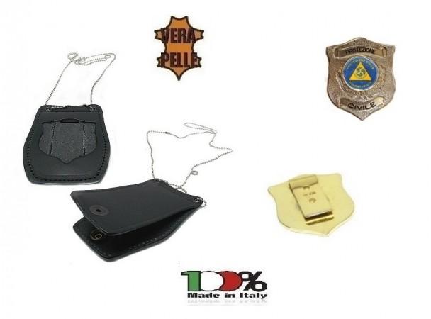 Porta Placca Doppio Uso Collo - Cintura Protezione Civile Volontario Vega Holster 1WB115 Art. 1WB115OFF