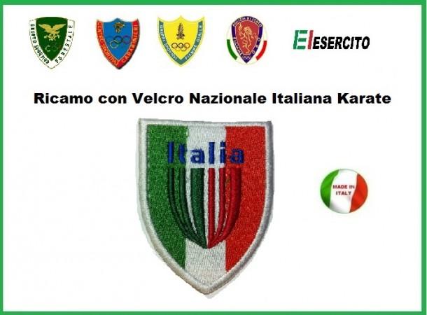 Scudetto con velcro Nazionale Karate Italiana Art.NSD-K