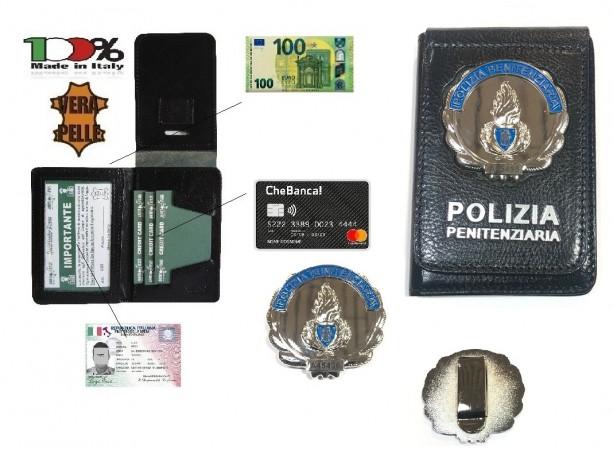 Portafoglio Portadocumenti con Placca o Senza Placca Polizia Penitenziaria Ascot  Italia Art. 600PPEN