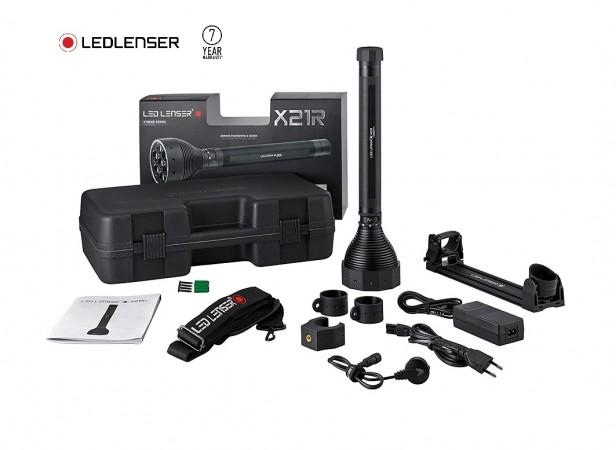 LED LENSER X21R Torcia Led Ricaricabile 5000 lumens Vigilanza Soccorso Protezione Civile Polizia GPG IPS Art. 8421-R