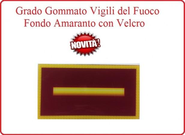 Grado New Pettorale a Velcro Fondo Amaranto Vigili del Fuoco Capo Squadra  Art.VVFF-G6
