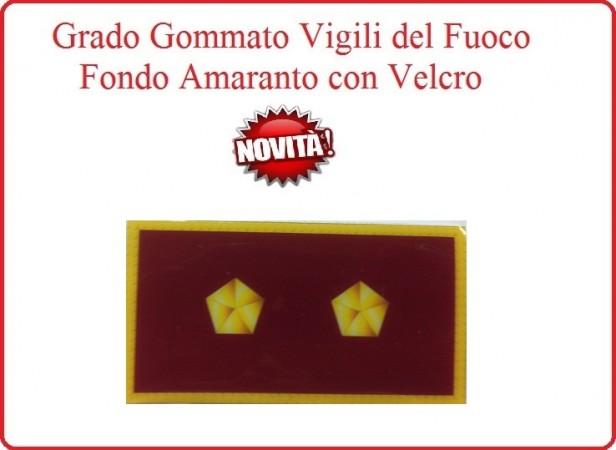 Grado New Pettorale a Velcro Fondo Amaranto Vigili del Fuoco Ispettore Antincendi Art.VVFF-G13