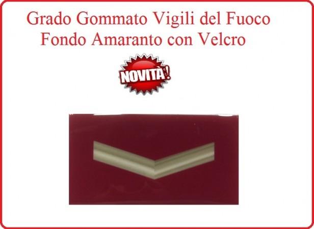 Grado New Pettorale a Velcro Fondo Amaranto Vigili del Fuoco Qualificato Art.VVFF-G3