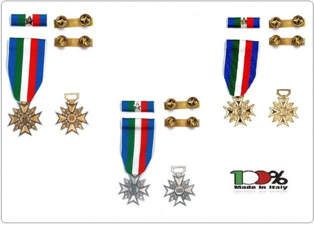 Medaglia Anzianità di Servizio Polizia Penitenziaria Bronzo Oro Argento Art.PP-AN