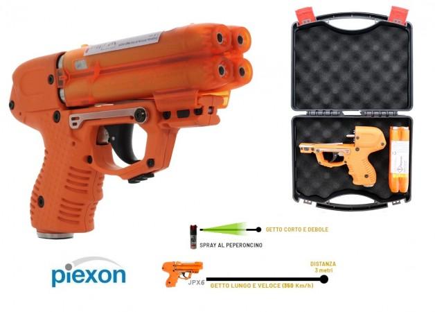 Piexon JPX6 Compact Pistola al Peperoncino Piexon JPX6 Compact Ricaricabile - 4 colpi inclusi Versione Italia - Libera vendita libero porto  Art.K8200-1099
