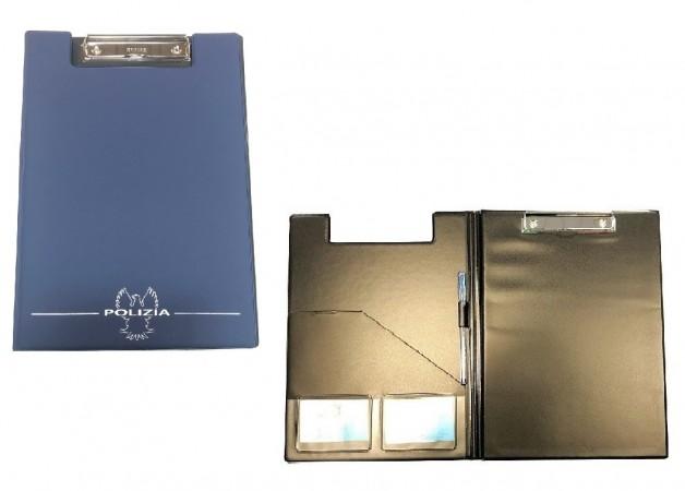 Cartella Porta block-notes il Primo Realizzato per Polizia di Stato Porta Verbali o Documenti Interrogatorio Art.BN-PSB