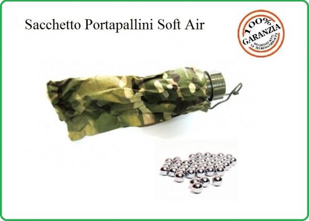 Sacchetto Porta Pallini 6 mm Soft Air Guerra Simulata Multicam Art.JQ-01MUL