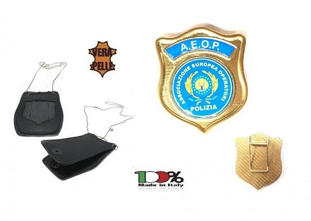 Porta Placca Doppio Uso Collo - Cintura A.E.O.P. AEOP Ass. Europea Operatori di Polizia 1WB Art. 1WBAEOPOFF
