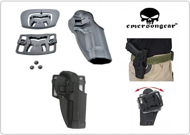 Fondina Rigida ABS Per 92 Fs Con Sgancio Rapido di Sicurezza + 1 Passante Omaggio Novità Emerson Art. EM6095G