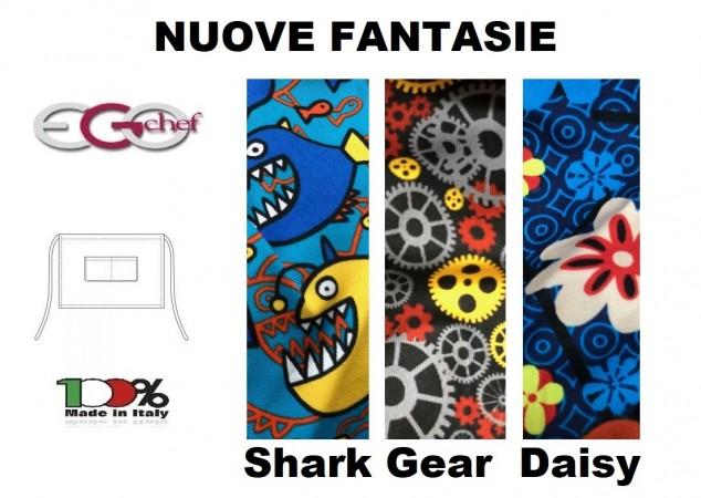 Grembiule Falda Barman Banconiere Con Tascone cm 40x70 Ego Chef Italia New  DAISY SHARK GEAR Art. 6100
