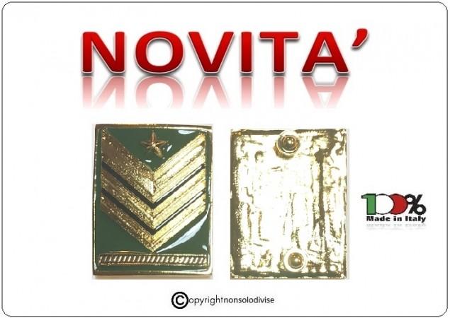Grati Metallo Nuovo Tipo Sergente Maggiore Capo Carica Speciale Esercito Italiano Art.NSD-LU5