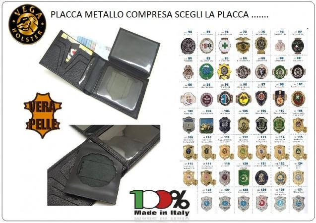 Portafoglio Portadocumenti con Placca Estraibile Vega Holster Italia SCEGLI LA TUA PLACCA Art.1WG?