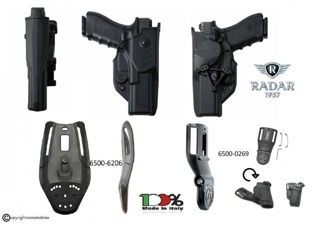 Fondina Professionale Glock 17 Polimero Radar Hawk  T-LEP SYSTEM Livello 3° Radar1957 Italia Art. 6A27-5527