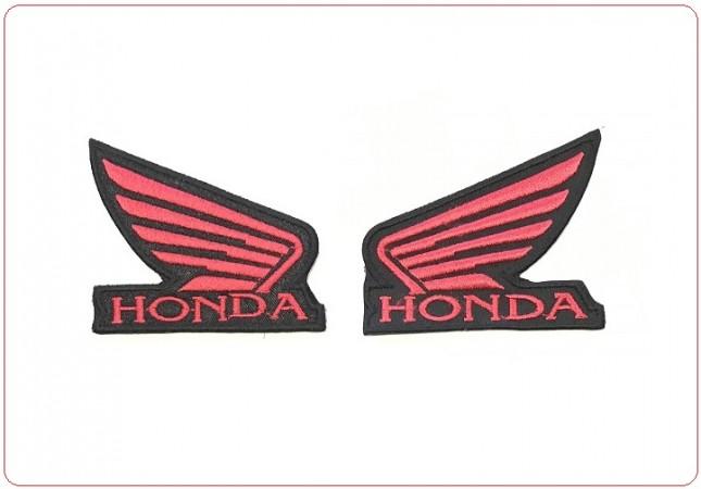 Coppia Destra Sinistra Toppa Patch Ricamata Termoadesiva Honda Rossa  Art.TOP-H1