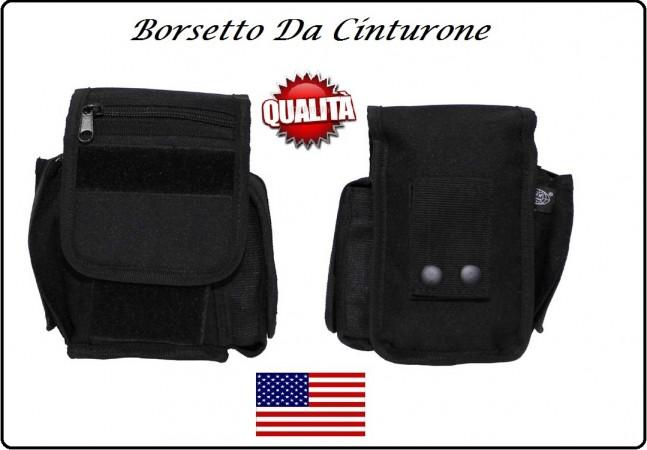 Borsetto Multiuso per Cinturone Cordura MHF Nero Blak  Art.30745A