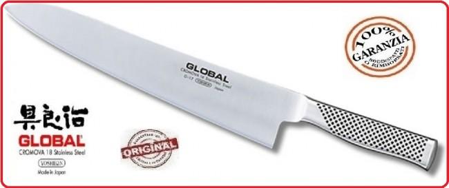 Coltello forgiato professionale trinciante cucina cm 27 global g17 art g 17 - Coltelli da cucina professionali global ...