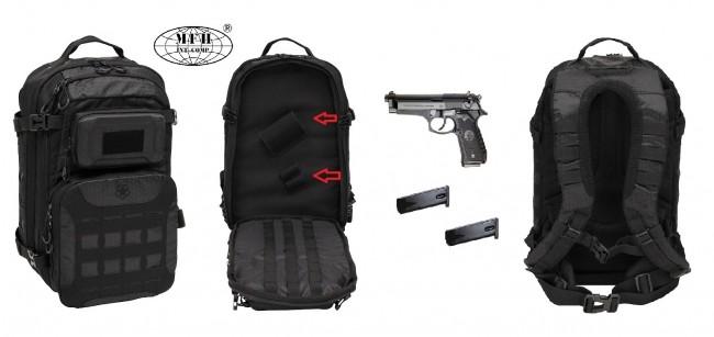 Zaino Borsa Borsone Militare Poligono Porta Pistola Universale Beretta PX4 ecc e Caricatore Operazione I Black MFH Art. 30383A