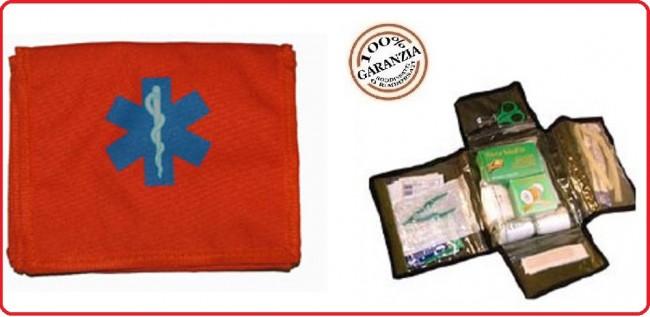 Kit Medico di Primo Soccorso Kit First Aid 2 Arancio Esercito Marina Aeronautica Emergenza Art.01420