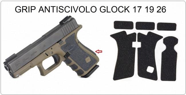 Novità Grip Antiscivolo Adesivo per Glock 26 19 17  Utilissimo e Professionale Sia per Uso Sportivo che Uso Militare Art.GRIP-1
