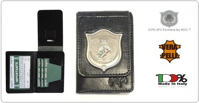 Portafoglio Portadocumenti Nero Placca Fissa GPG I.P.S. PANTERA® Guardia Particolare Giurate Incaricato di Pubblico Servizio Novità Art.GPG-P3