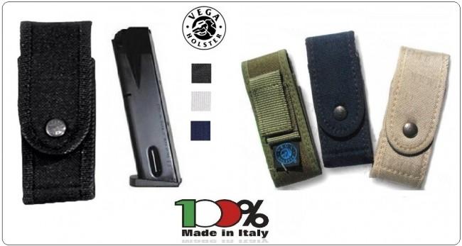 Porta Caricatore Portacaricatore Singolo in Cordura Vari Colori Vega Holster Italia Art.2P50