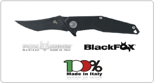 Coltello Serramanico Black FOX Kravi Shai G10 Black Hdl Lama Nera Design by Avi Nardia Art.BF-729