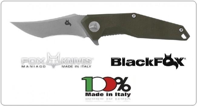 Coltello Serramanico Black FOX Kravi Shai G10 Green Hdl Lama Chiara  Art.BF-729SW
