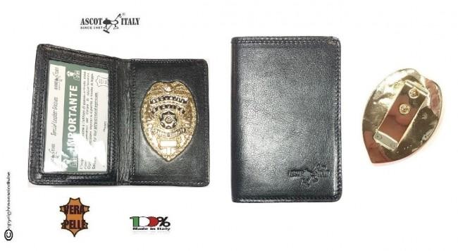 Portadocumenti + Portafoglio con Placca Security Service Guardie Giurate  Ascot Italy Novità Art. 601AS23