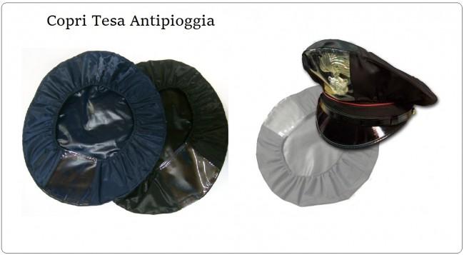 Copri Berretto Antipioggia Con Finestrella Nero o Blu Per Tesa Polizia Carabinieri Vigilanza Polizia Locale Art.FAV-CB