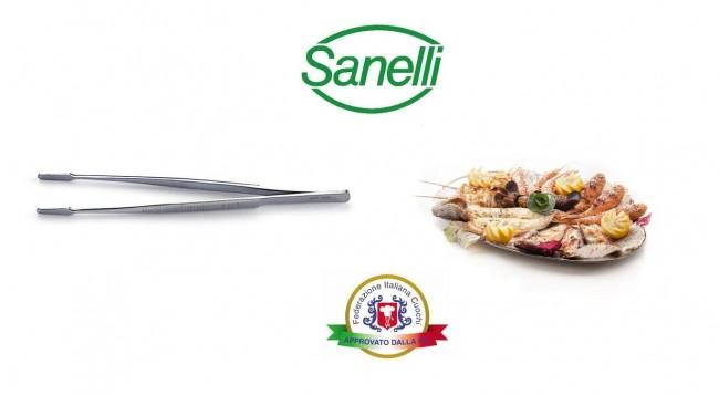 Pinza Professionale Spina Pesce cm 11 Sanelli Italia Cuochi Chef Approvato dalla F.I.C. Federazione Italiana Cuochi  Art.. 228000
