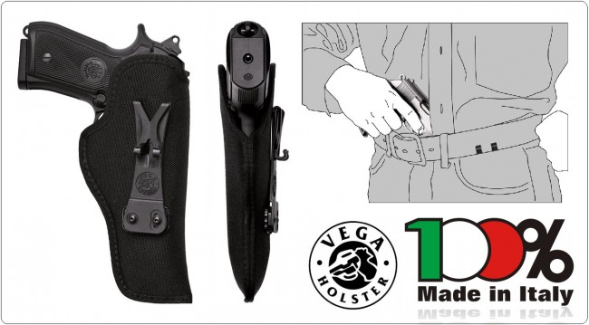 Fondina Interna in Cordura Sotto Camicia per il Massimo Occultamento dell'Arma Beretta, Colt, Glock, Sig  Art.IU2