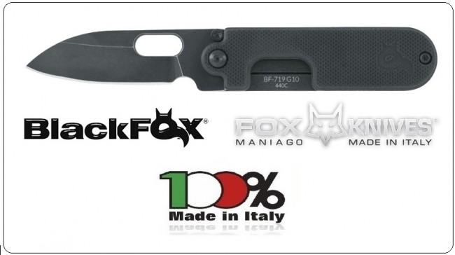 Coltello Serramanico Navaja Black Fox  G10 Bean Gen2  Design By Serge Panchenko Art.BF-719
