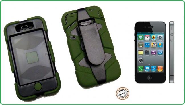 CUSTODIA ANTISHOCK - ANTIACQUA PER IPHONE 4-4S colore Verde  Special Operations Art.03150